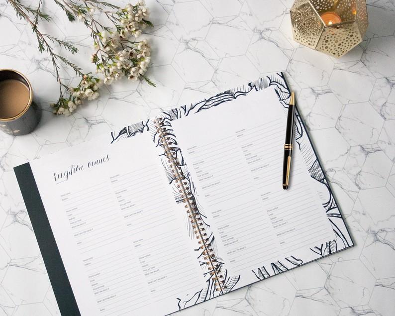Esküvőszervezés esküvői napló segítségével