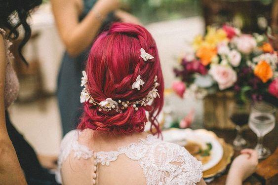 Menyasszonyi smink vörös hajhoz