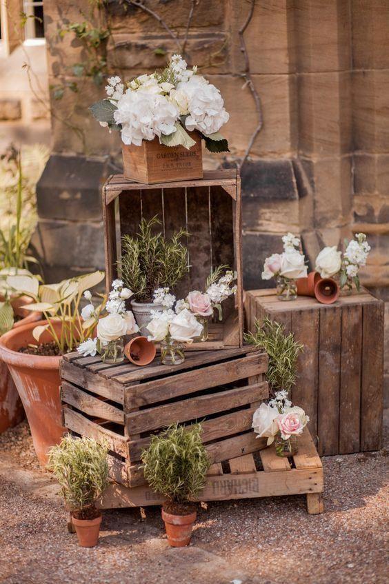 Vintage esküvői dekoráció