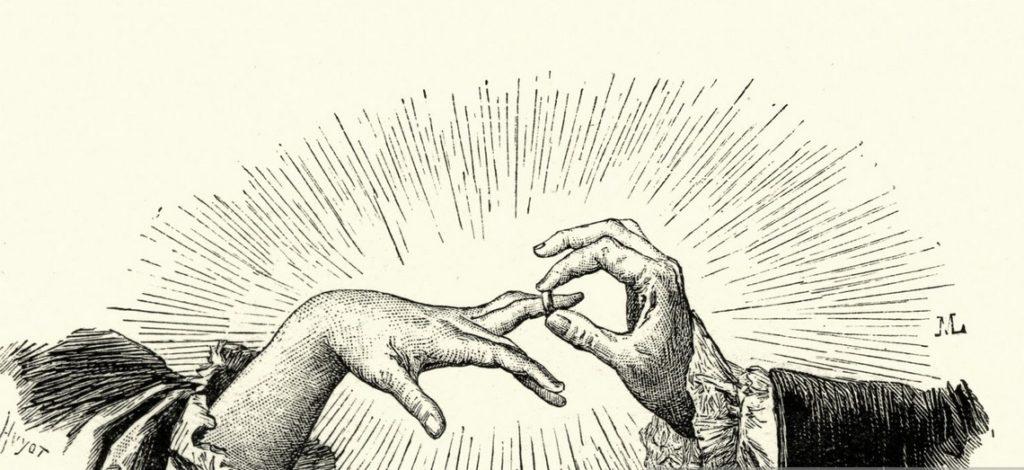 A jegygyűrű viselés történelme
