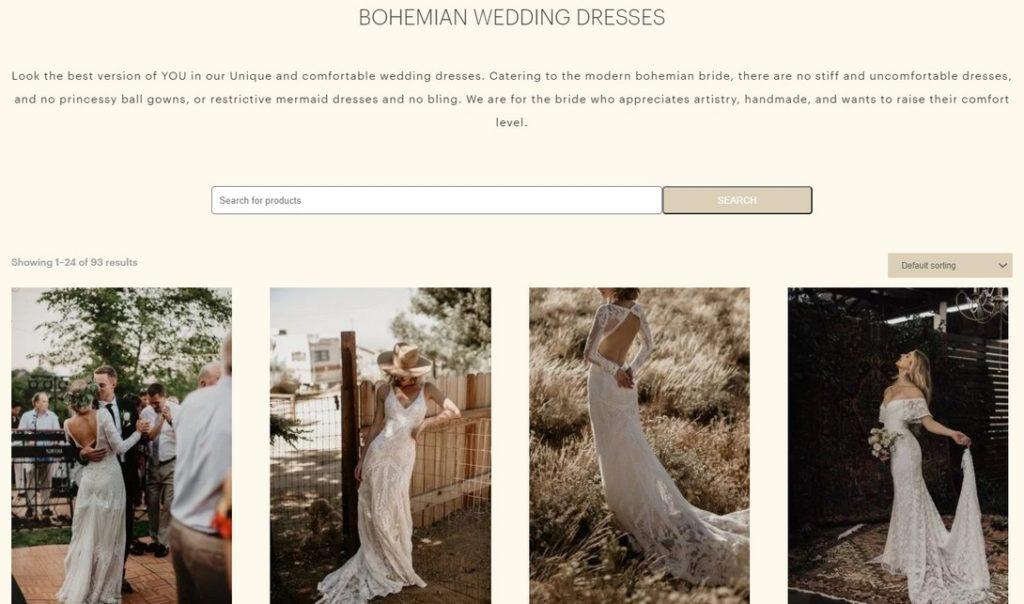 Különleges esküvői ruha