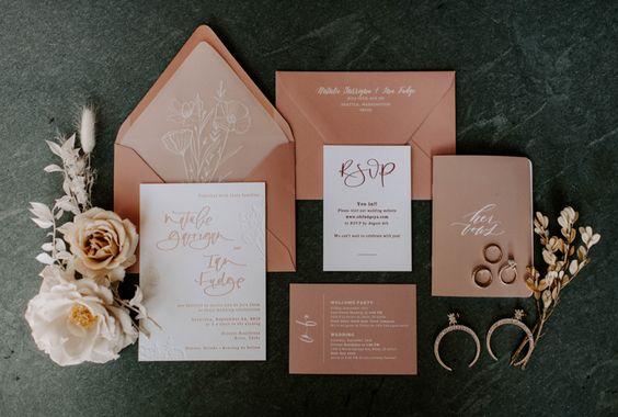 Bohém stílusú esküvői meghívó