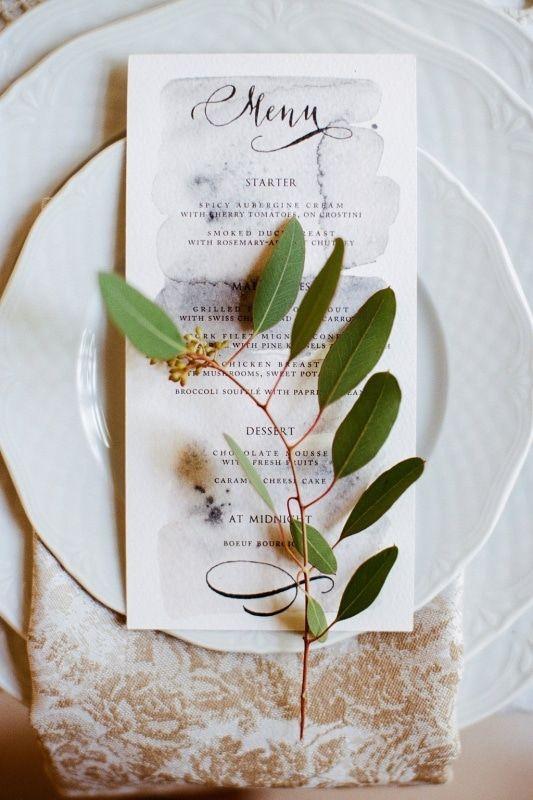 Esküvői menü dizájn