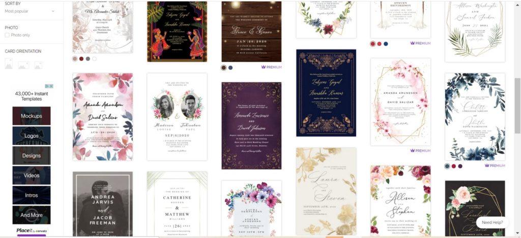 Esküvői meghívók a greetingislanddal