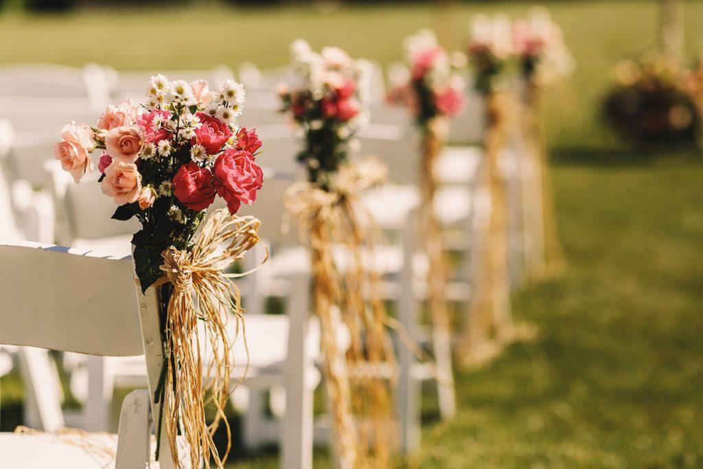 esküvői díszítés a Bagolyvár Fogadóban