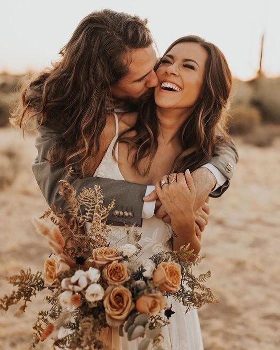 Boldog pár esküvőjükön