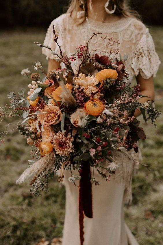 Milyen egy őszi esküvőn egy csokor?