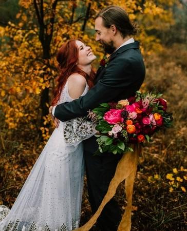 Őszi esküvői fotózás