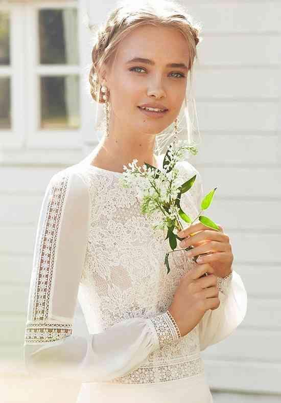 Hosszú ujjú esküvői ruha
