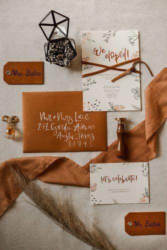 Évszaknak megfelelő esküvői meghívó