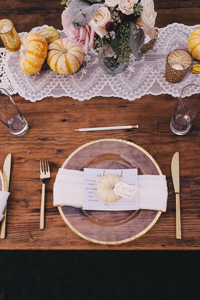 Esküvői dekoráció ősszel