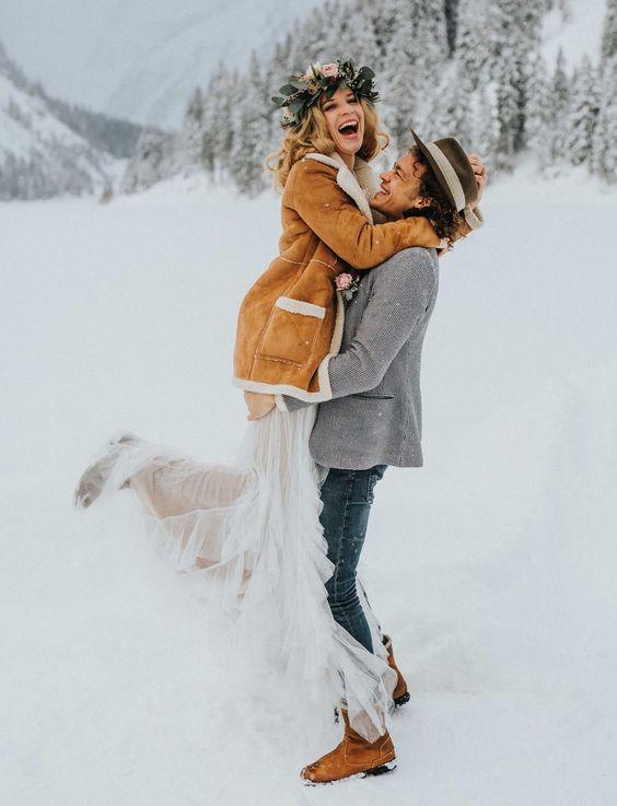 Esküvői fotózás télen