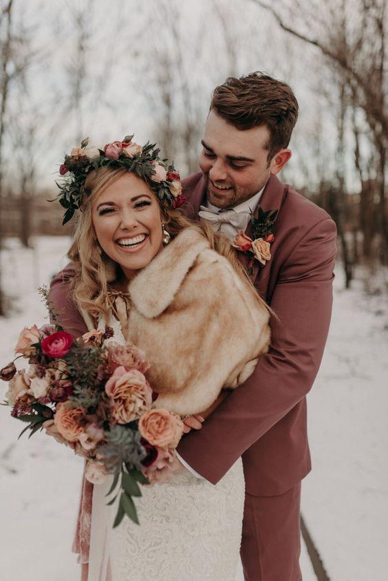 Téli esküvői fotók