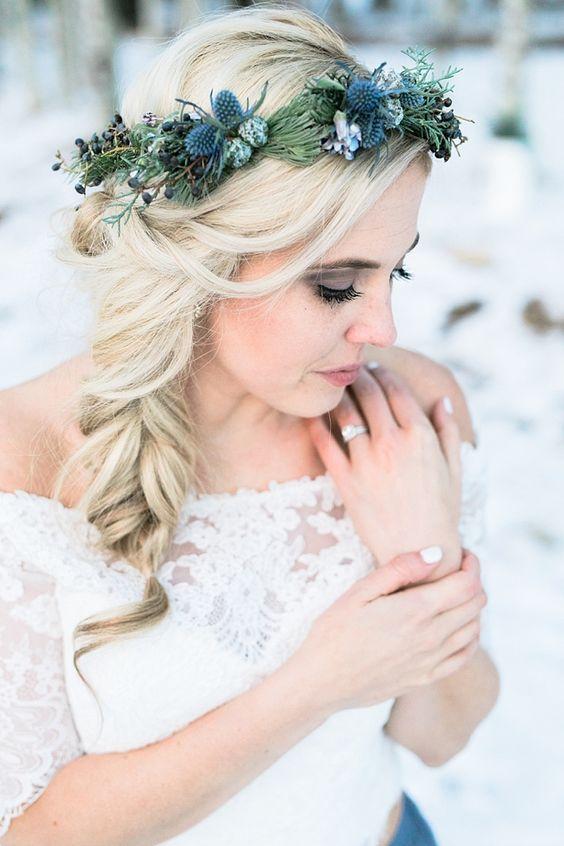 Virágkorona a tél színeiben