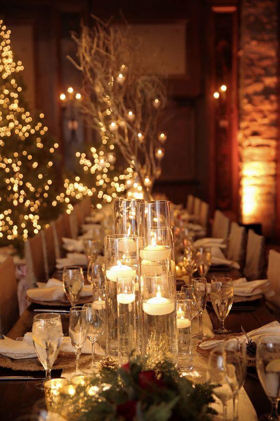 Téli fények egy esküvőn