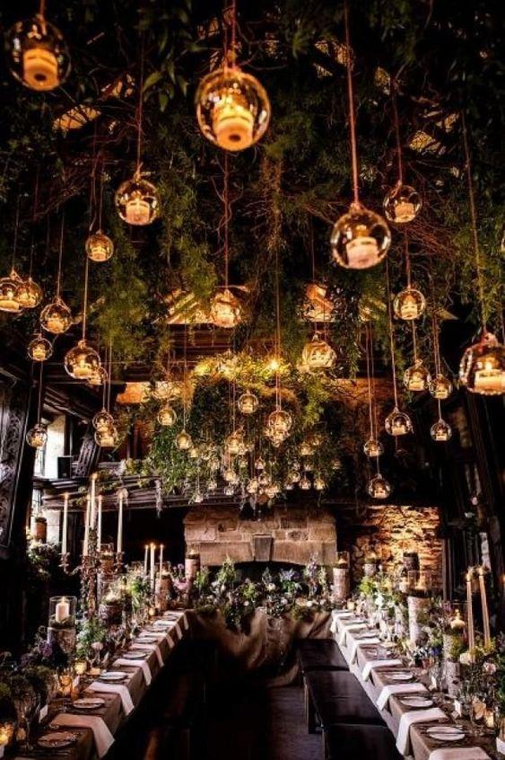 Hangulatos esküvői világítás