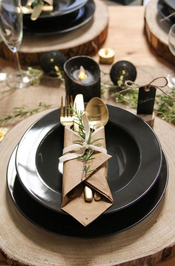 Téli étkészlet dekoráció